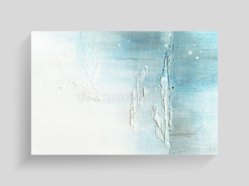 Arte de pintura colorido del extracto en fondo de la textura de la lona Primer imagen de archivo libre de regalías
