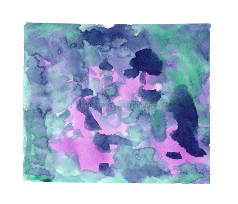 arte de pintura espirrada aquarela Azul-borrada imagem de stock royalty free