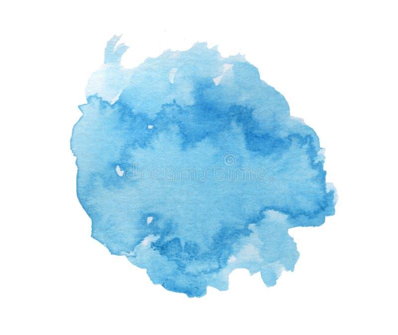 Arte de pintura espirrada do céu azul aquarela brilhante imagens de stock