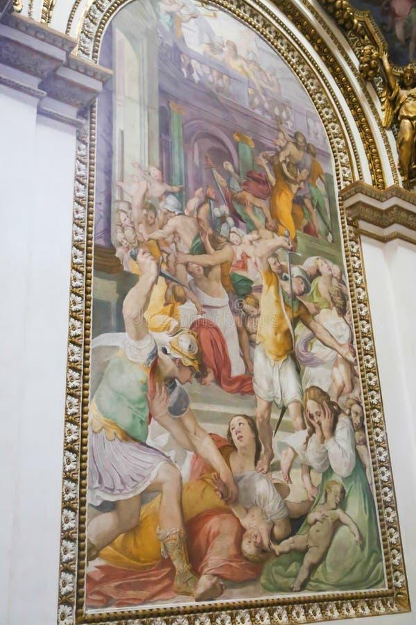 Arte de St Peter Basilica, Vaticano imagen de archivo libre de regalías
