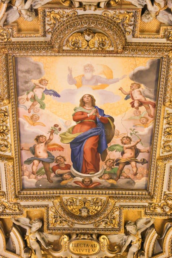 Arte de St Peter Basilica, Vaticano imagem de stock