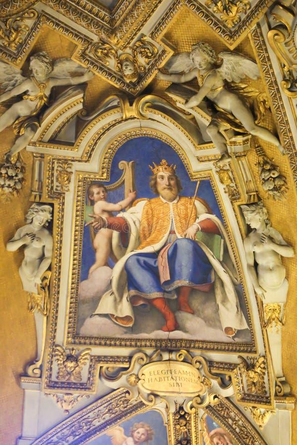 Arte de St Peter Basilica, Vaticano fotografía de archivo