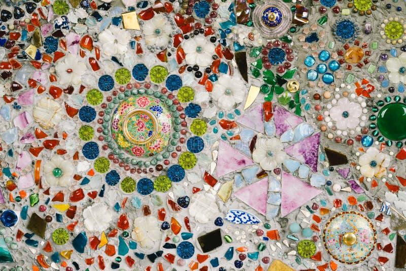 Arte de vidro colorida do mosaico e parede abstrata fotos de stock royalty free