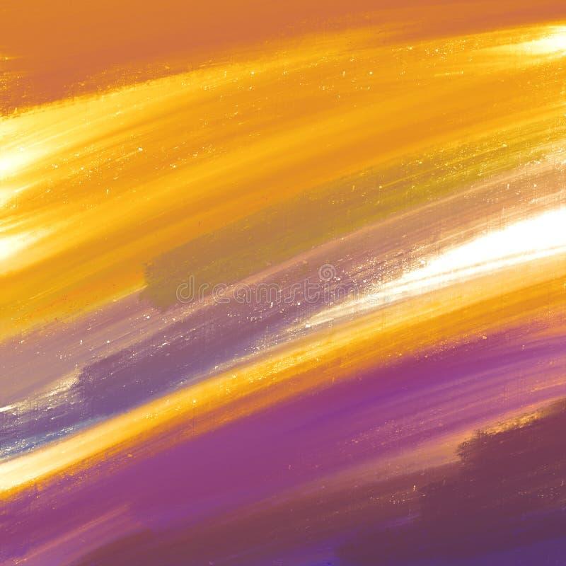 Arte decorativo de la pintura Pinturas secas polvorientas en superficie Ilustraciones abstractas de los movimientos del cepillo d ilustración del vector