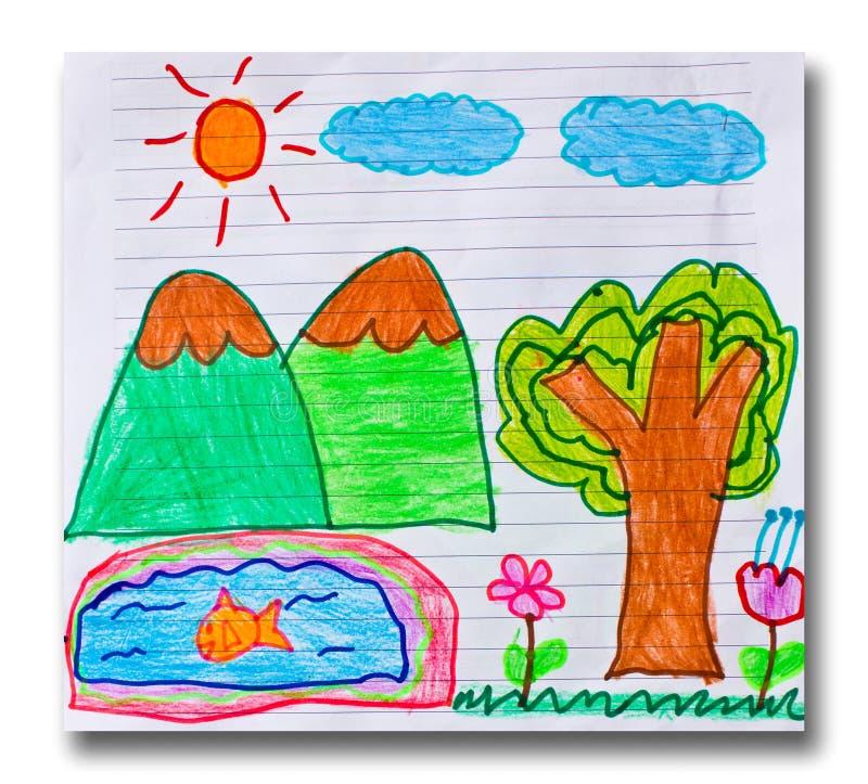 Arte del bambino royalty illustrazione gratis