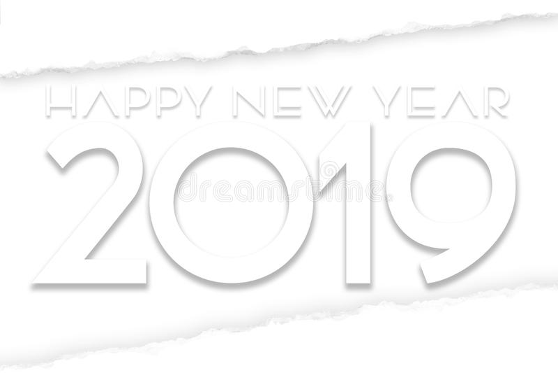 Arte 2019 del buon anno illustrazione vettoriale