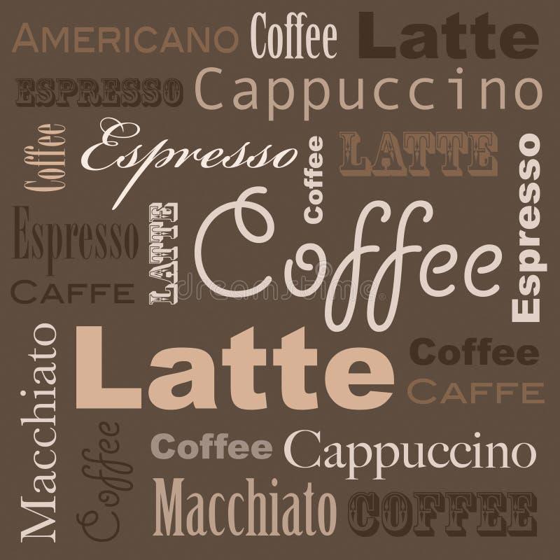 Arte del caffè illustrazione di stock