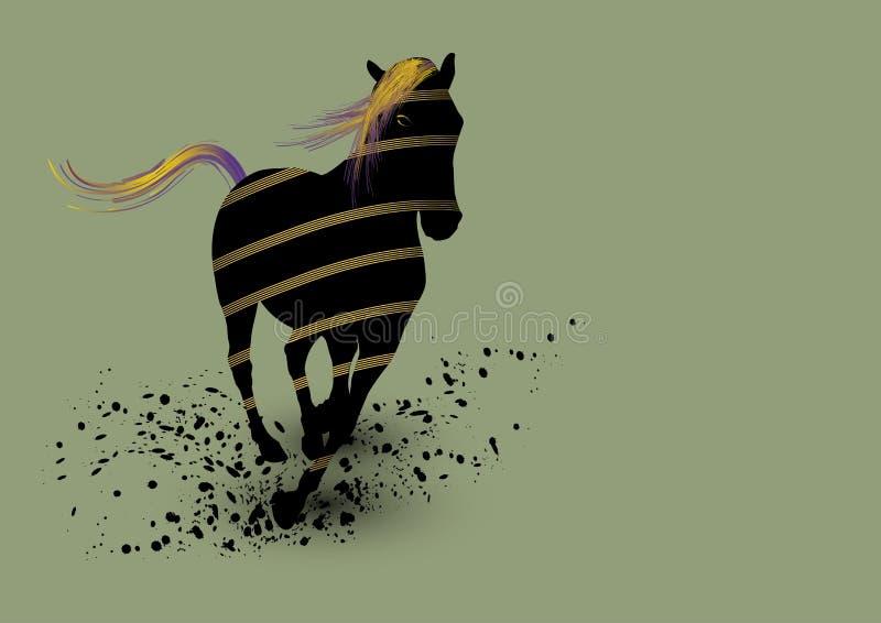 Arte del cavallo royalty illustrazione gratis