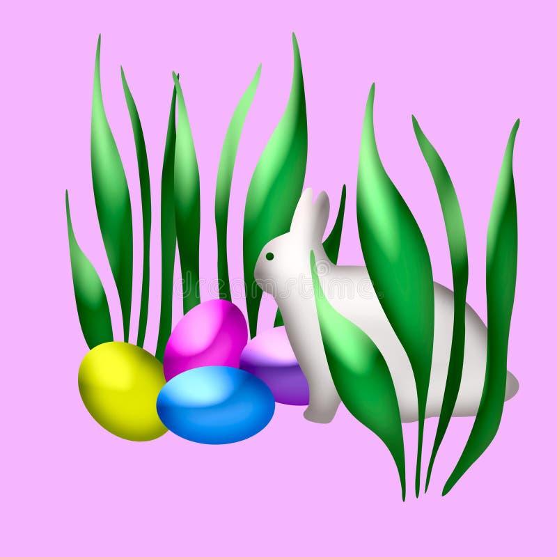 Arte del coniglietto di pasqua royalty illustrazione gratis