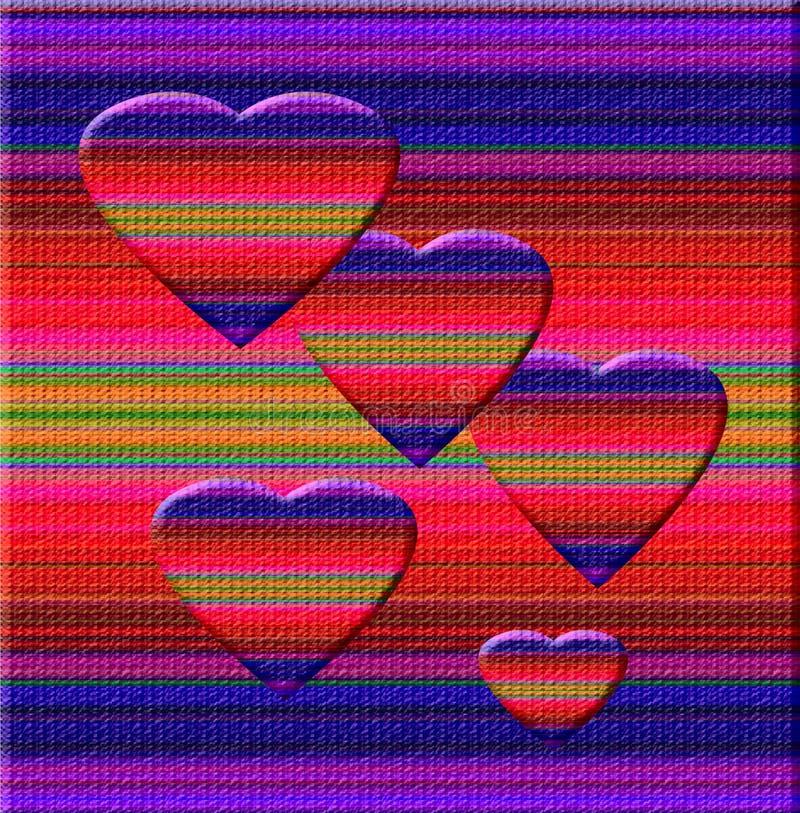 Arte del cuore del Chameleon illustrazione di stock