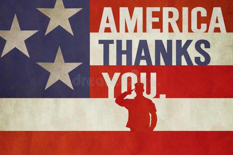 Arte del día de veteranos de Memorial Day stock de ilustración