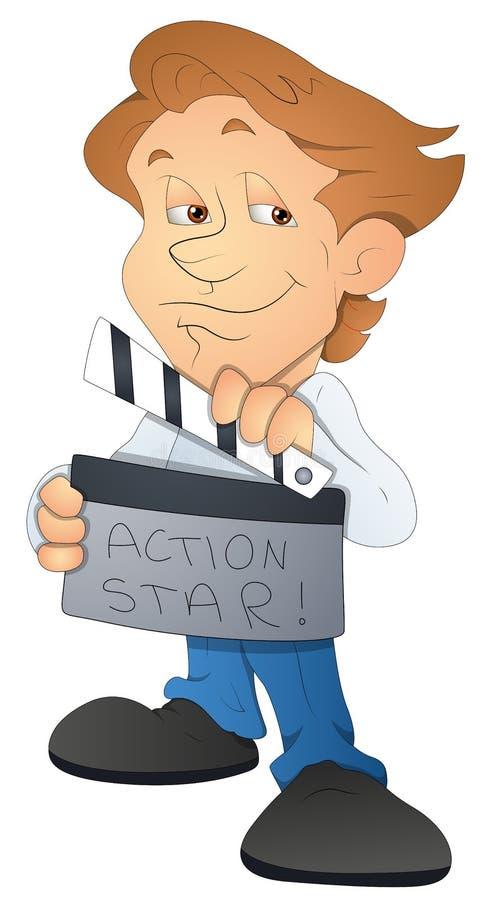Director de película - personaje de dibujos animados - ejemplo del vector ilustración del vector