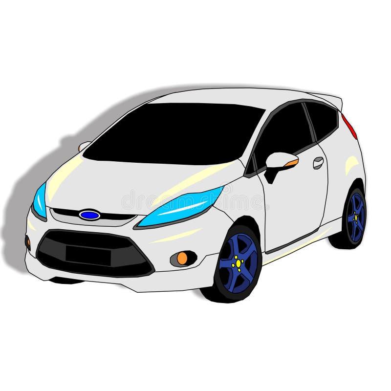 Arte del diseño del coche de la ciudad imagen de archivo