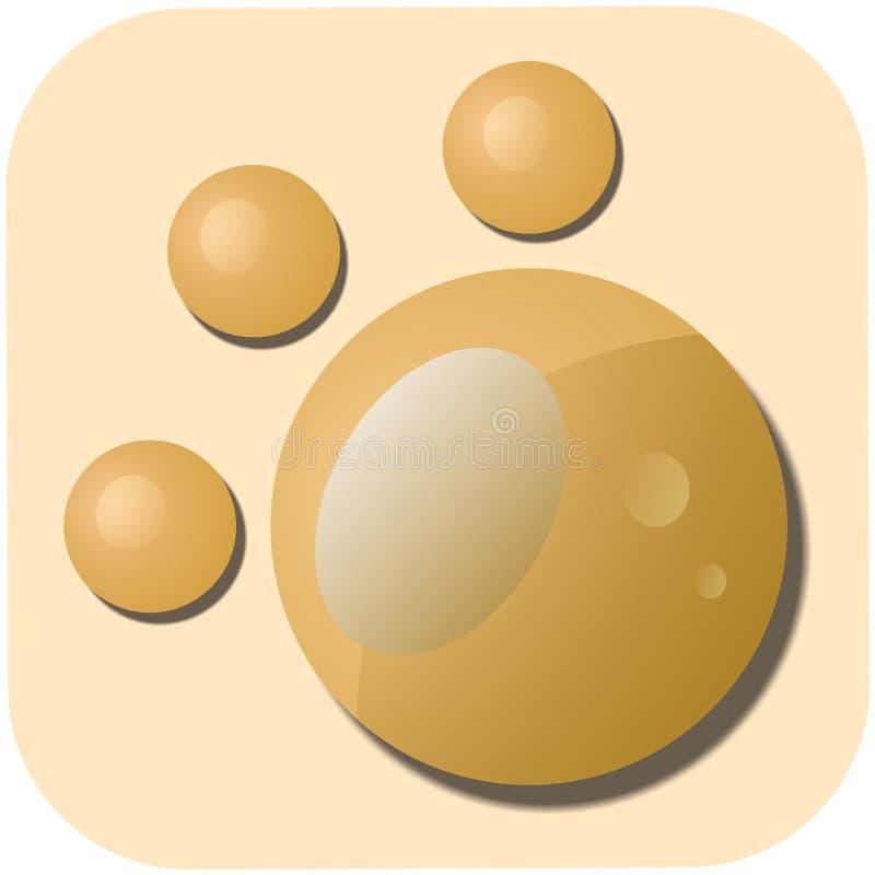 Arte del diseño del logotipo de la huella imagen de archivo