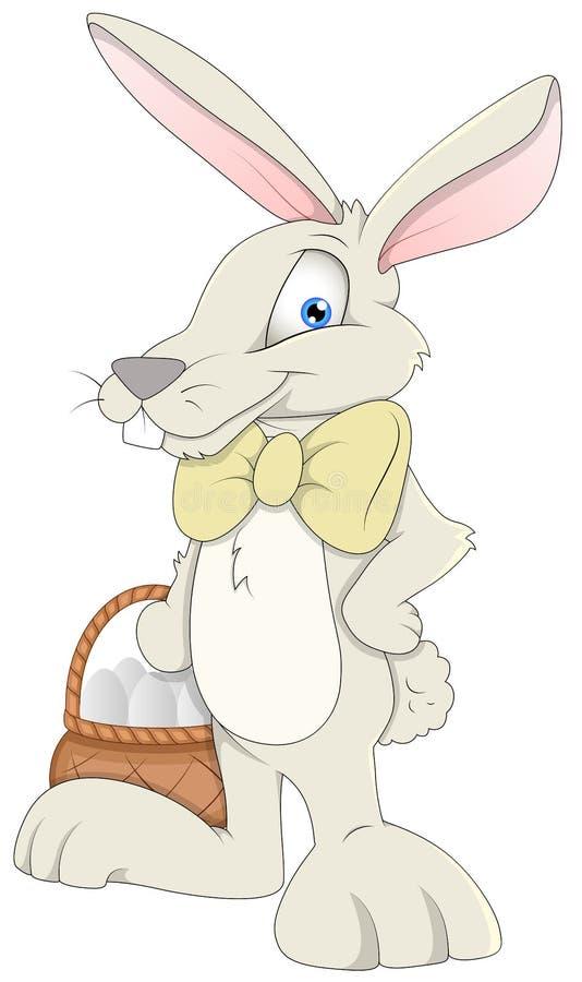 Coniglietto di pasqua - personaggio dei cartoni animati - illustrazione di vettore illustrazione vettoriale