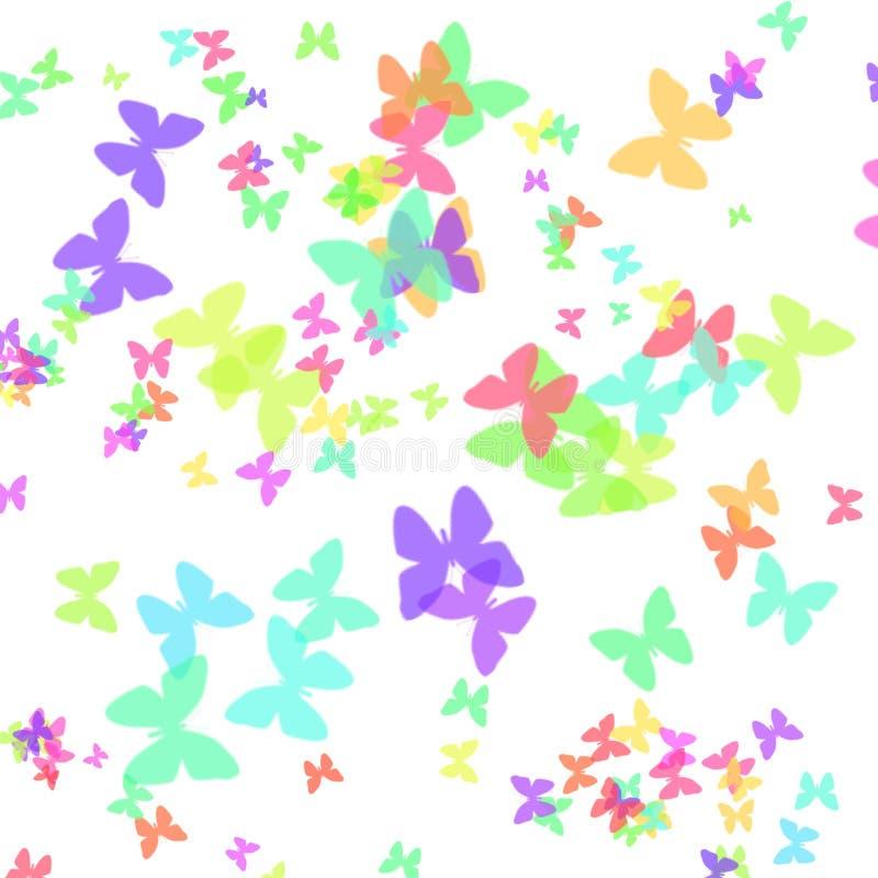 Arte del documento del regalo della farfalla royalty illustrazione gratis