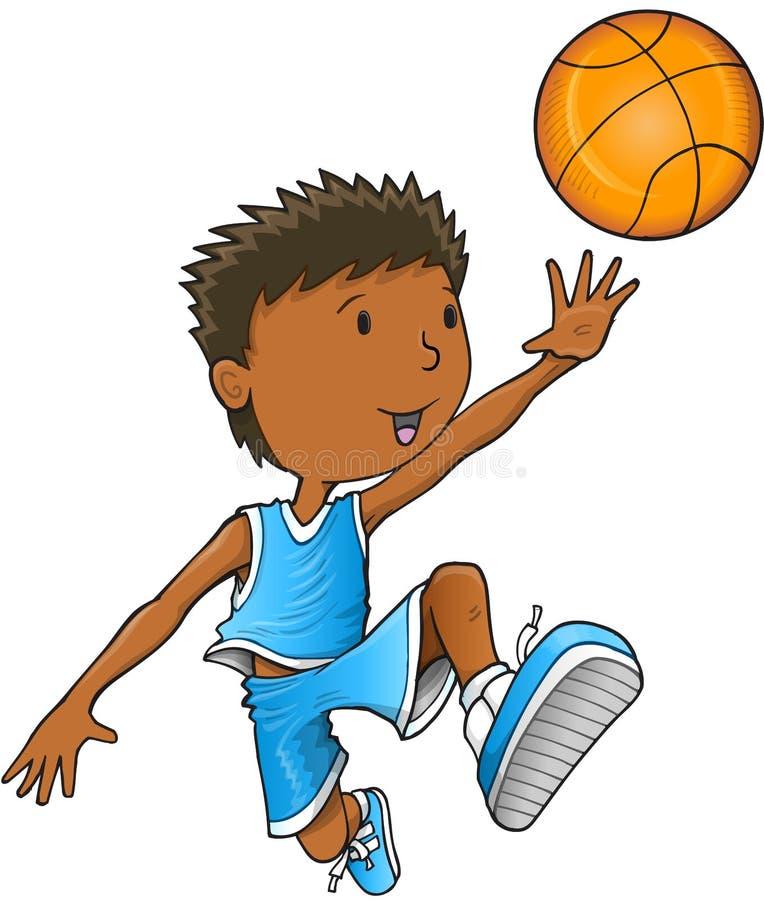 Arte del ejemplo del vector del jugador de básquet libre illustration