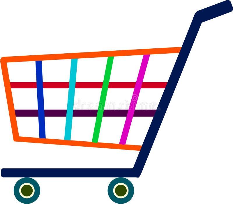 Arte del ejemplo del logotipo colorido de las compras con el fondo aislado stock de ilustración