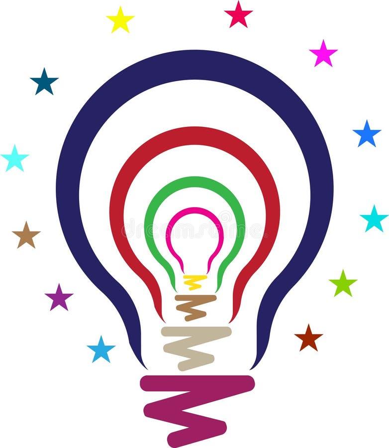Arte del ejemplo del logotipo de la lámpara con el fondo aislado ilustración del vector