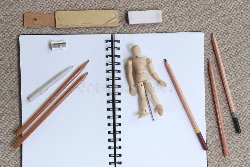 Arte del estilo de la endecha y concepto planos el bosquejar stock de ilustración