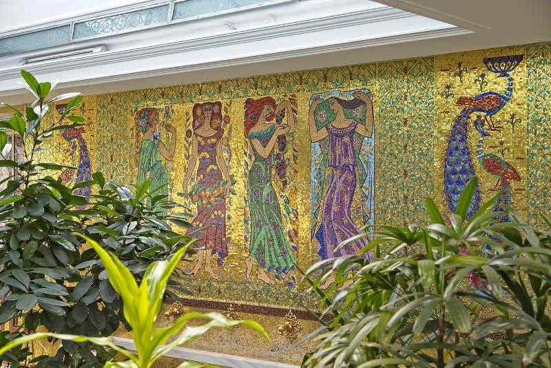 Arte del giardino del palazzo di Ceausescu immagini stock libere da diritti
