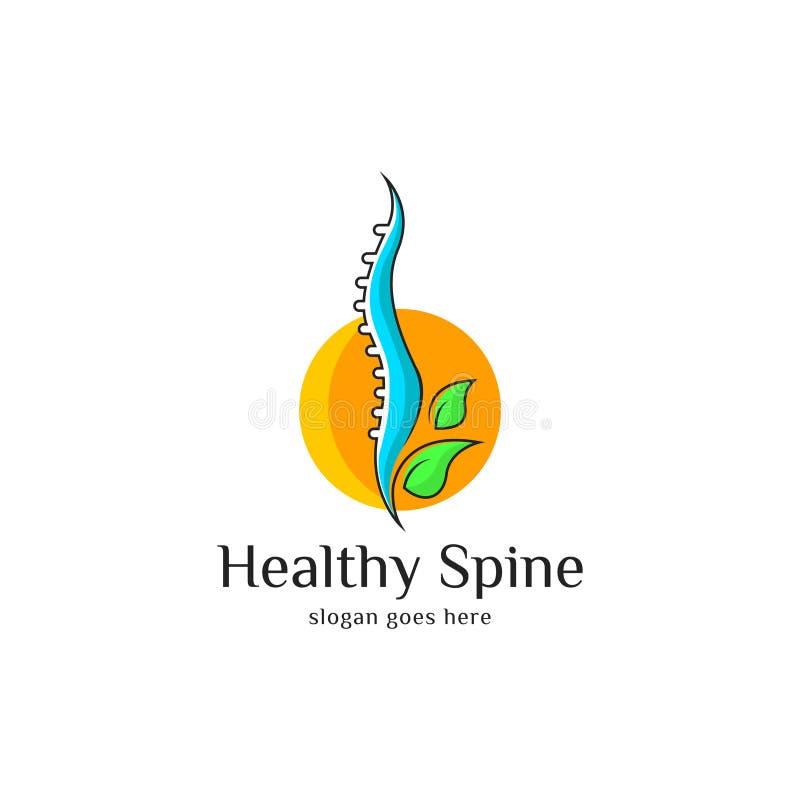 Arte del logotipo de la espina dorsal stock de ilustración