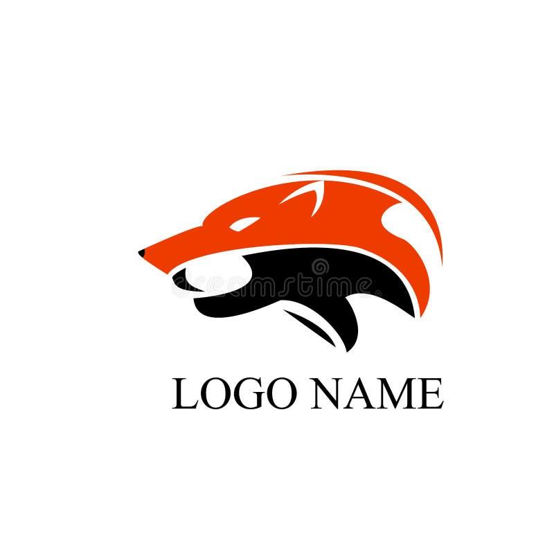 Arte del logotipo del lobo ilustración del vector