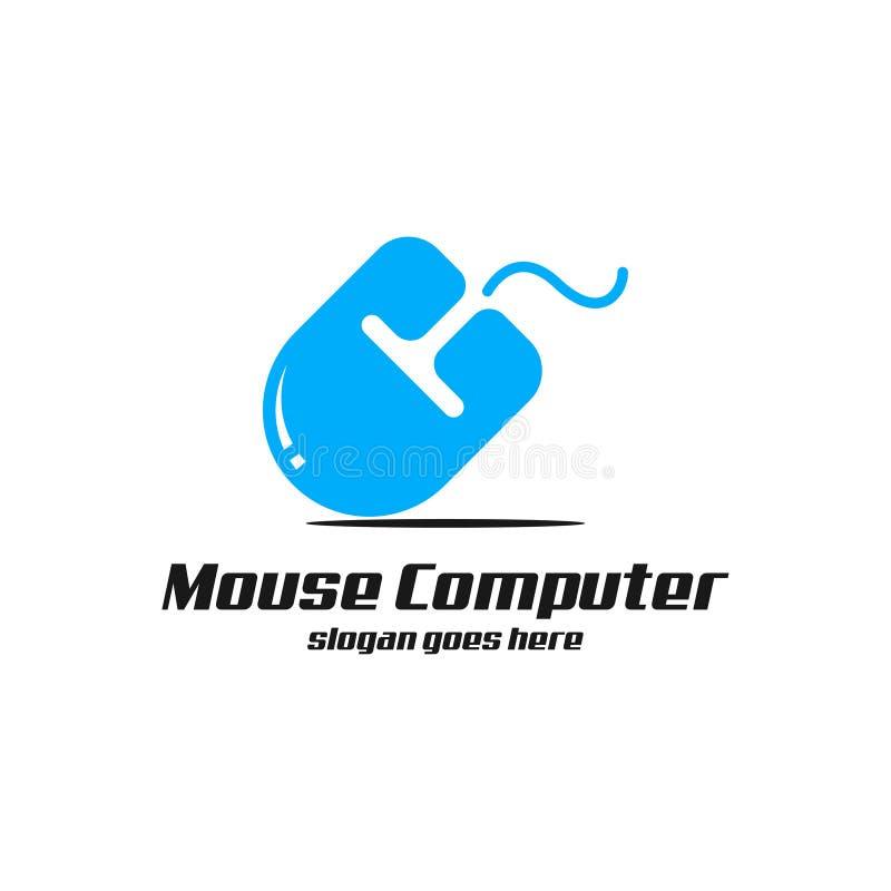 Arte del logotipo del ordenador del ratón ilustración del vector