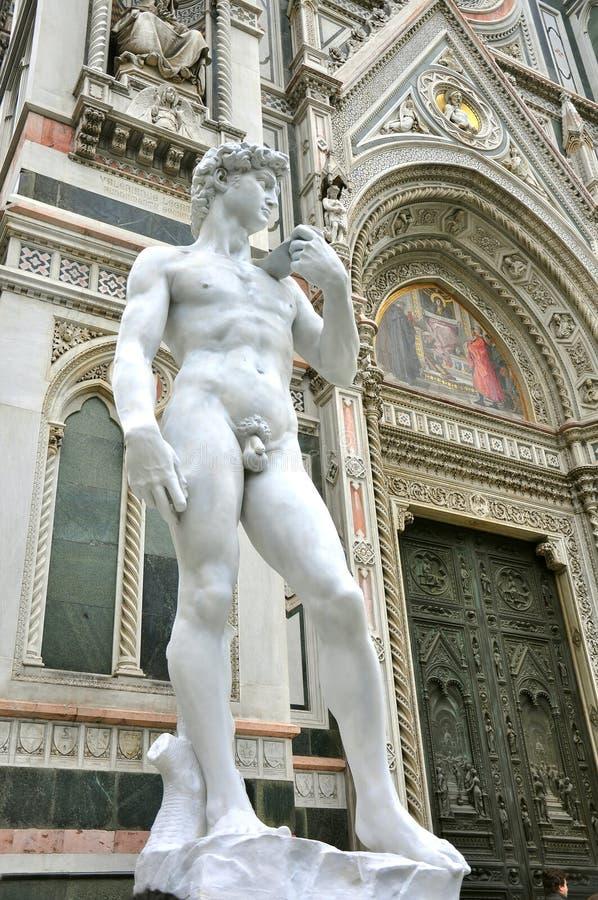 Arte del Michelangelo nella città di Firenze, Italia immagine stock