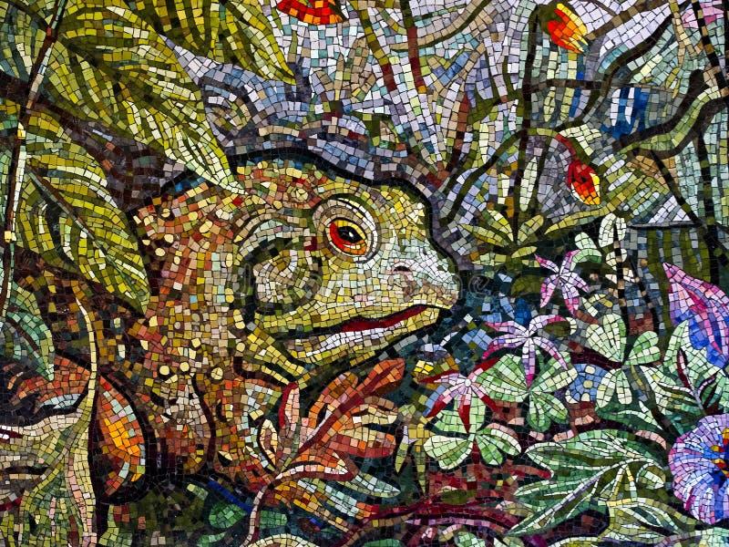 Arte del mosaico de una rana fotografía de archivo libre de regalías