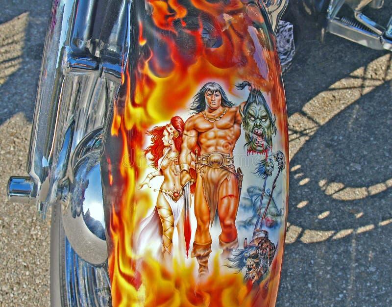 Arte del motociclo immagini stock