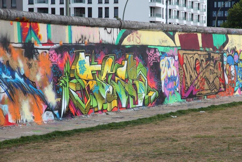 Arte del muro di Berlino fotografia stock libera da diritti