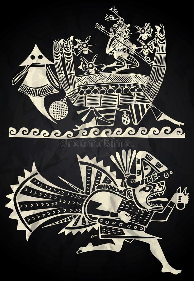 Arte del nativo del Perù e del Messico royalty illustrazione gratis