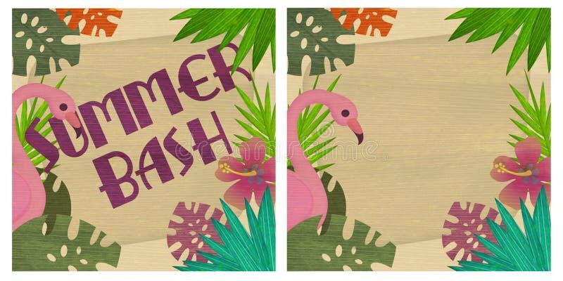 Arte del partido del verano stock de ilustración