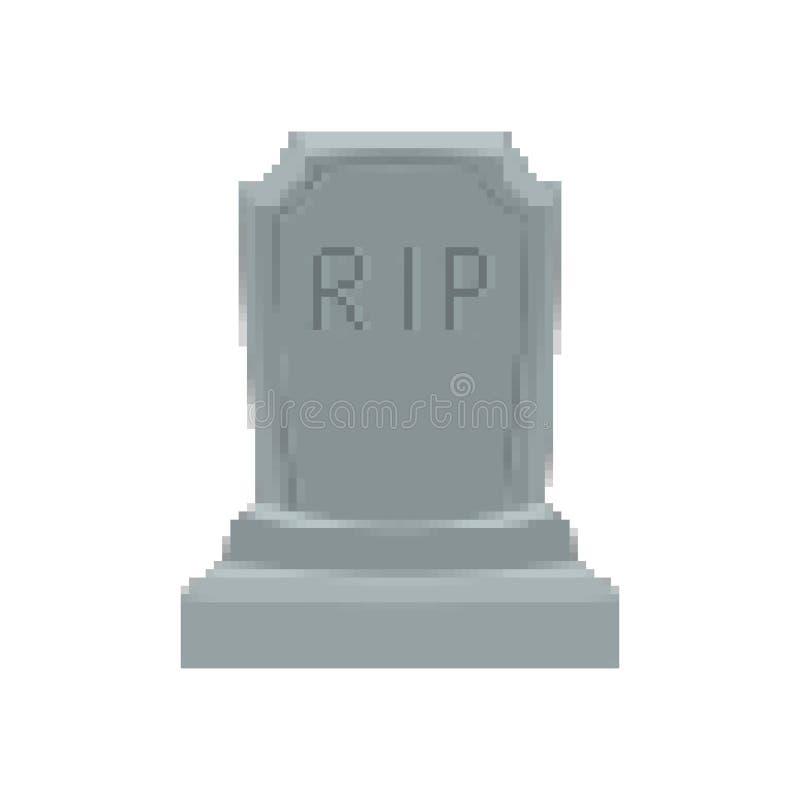 Arte del pixel de la lápida mortuaria Pedazo de la tumba 8 Halloween grave Cementerio del RASGÓN libre illustration
