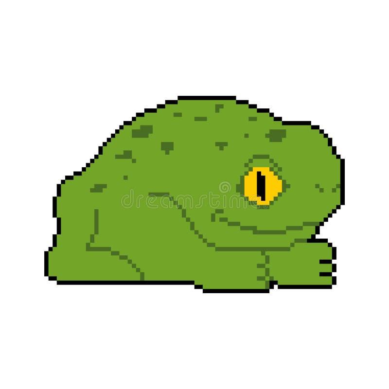 Arte del pixel de la rana Pedazo del sapo 8 Ilustración del vector libre illustration