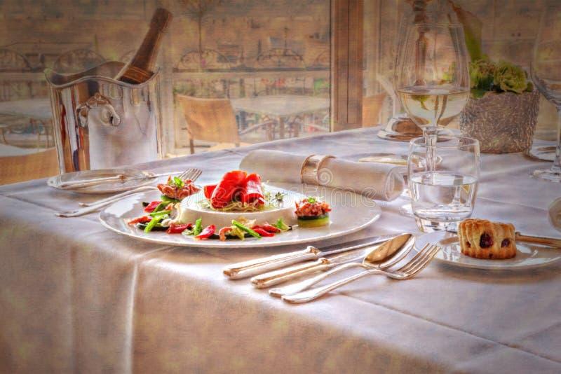 Arte del ristorante illustrazione di stock