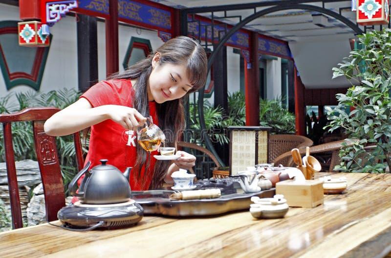 Arte del té de China.