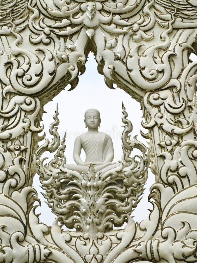 Arte del tempiale di Wat Rong Khun in Tailandia fotografie stock libere da diritti