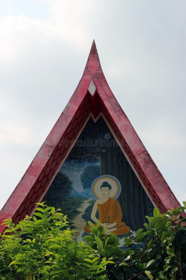 Arte del templo en Wat Jet Look Noen, Rayong, Tailandia imagen de archivo