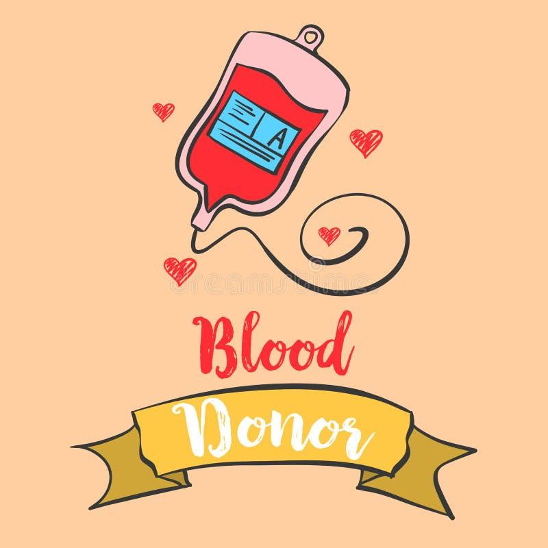 Arte del vector de la celebración del día del donante de sangre libre illustration