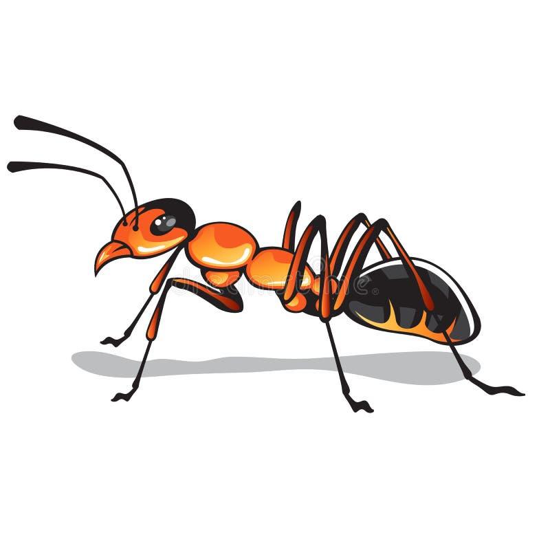 Arte del vector de la hormiga stock de ilustración