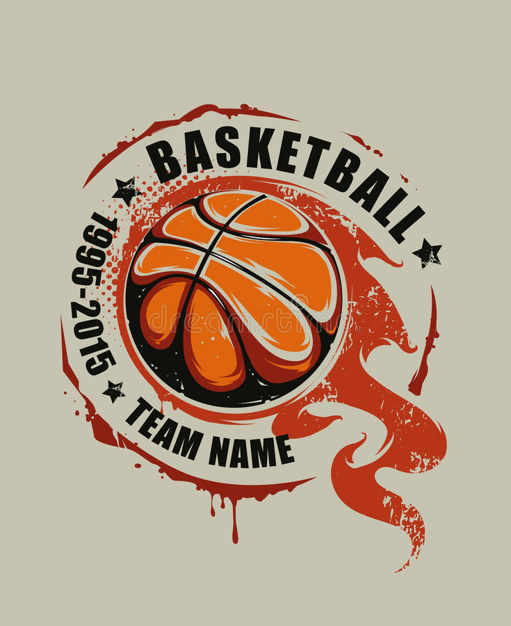 Arte del vector del baloncesto stock de ilustración