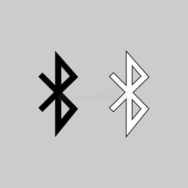 Arte del vector del icono de Bluetooth stock de ilustración
