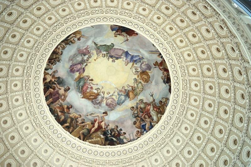 Arte dell'affresco della cupola del Campidoglio degli Stati Uniti fotografie stock