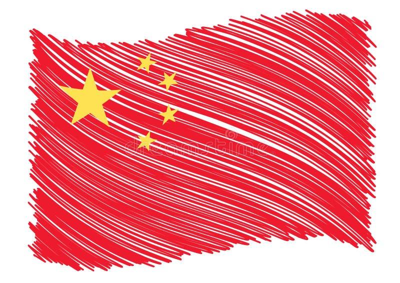 Arte della bandierina della Cina royalty illustrazione gratis