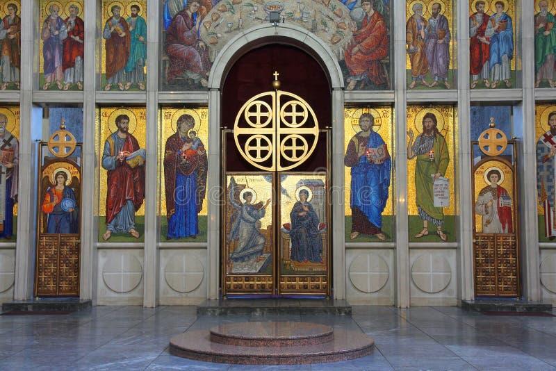 Arte della chiesa in Serbia fotografia stock