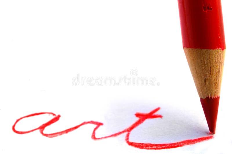 Arte della matita fotografia stock