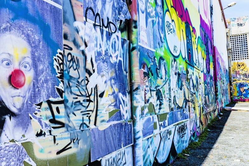 Arte della parete, Noumea, Nuova Caledonia fotografia stock libera da diritti