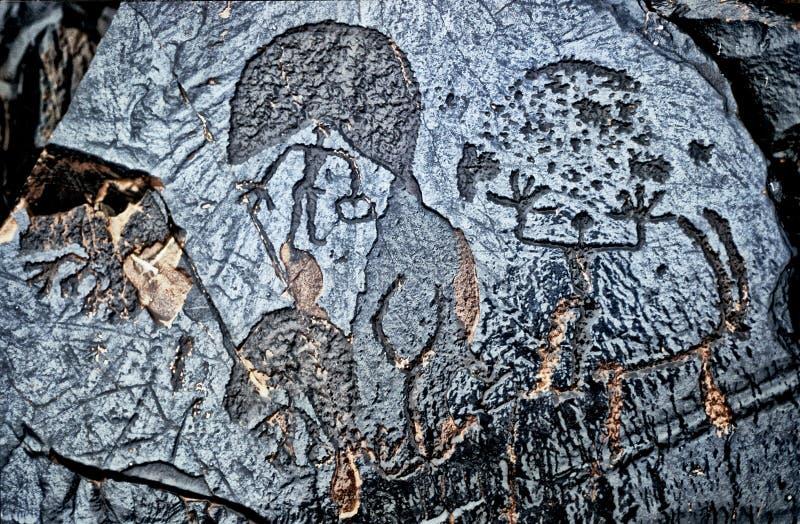 Arte della roccia fotografie stock libere da diritti